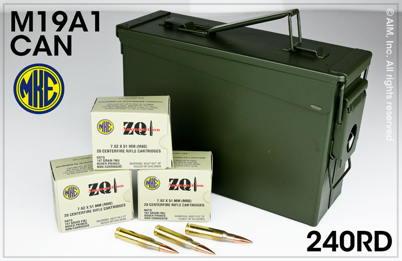 ZQI .308/7.62x51 147grn FMJ 240rd Can