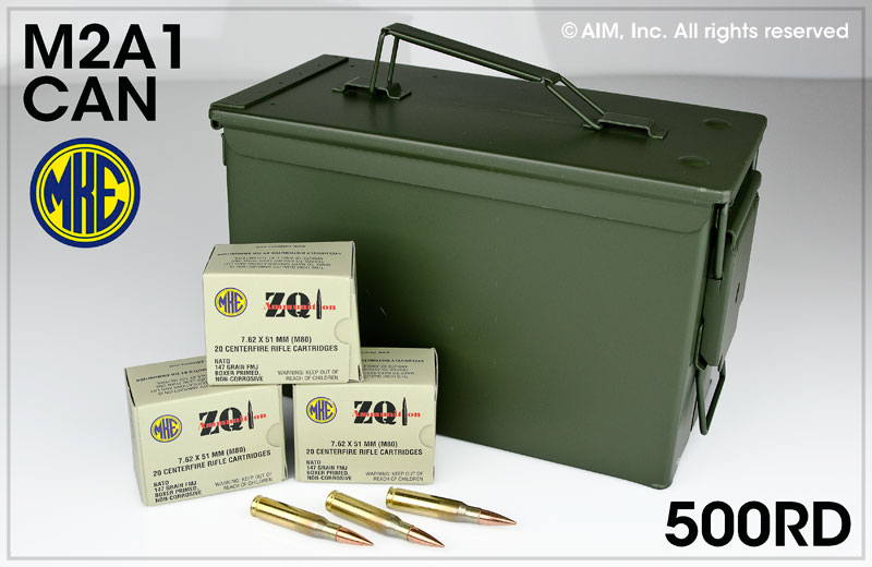 ZQI .308/7.62x51 147grn FMJ 500rd Can