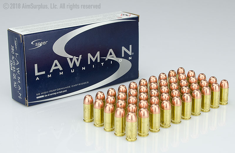 Speer Lawman .380 Auto 95grn TMJ 50rd Box