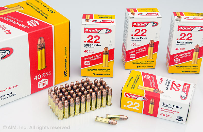 Aguila .22LR High Velocity 40grn Copper Coated 50rd Box