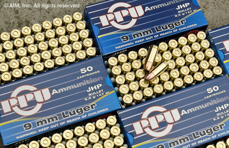 PPU 9mm Hollow Point Ammunition