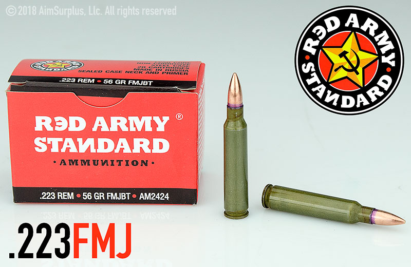 RED ARMY STANDARD .223 Rem 56grn FMJ 20rd box