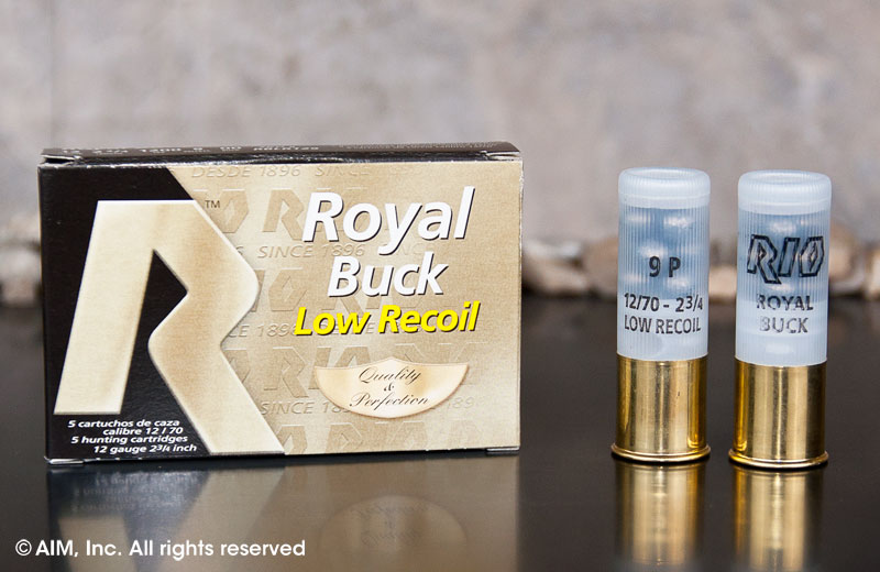 "RIO Royal 12ga 00 Buck (Low Recoil) 2 3/4"" 5rd Box"