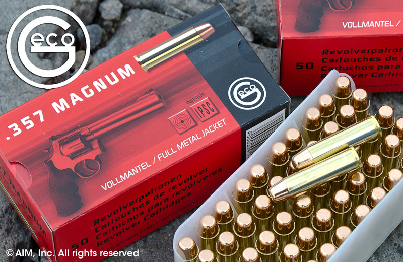 Geco .357 Magnum 158grn FMJ 50rd Box