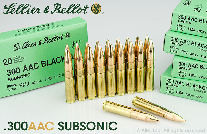 Sellier & Bellot .300 AAC Blackout 200grn FMJ SUBSONIC 20rd box