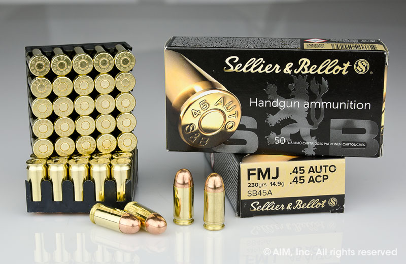 Sellier & Bellot .45 Auto 230grn FMJ 50rd Box