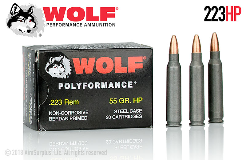 WOLF .223 55grn HP 20rd Box