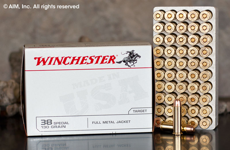 Winchester USA .38spl (USA38SPVP) 130grn FMJ 100rd value pack.