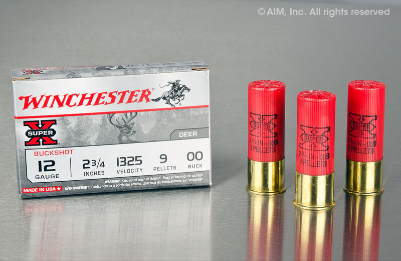 "Winchester XB1200 12 GA 00 Buck Super-X 9 pellets 2 3/4"" 5rd box"