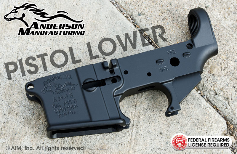Anderson Manufacturing AM15 Multi. Cal. Pistol Lower Receiver