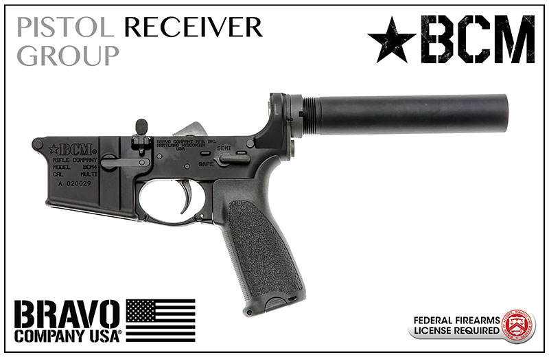 BCM® Pistol Lower Group w/BCM Pistol Receiver Extension