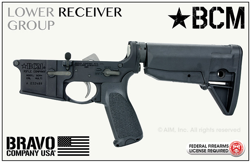 BCM® Lower Receiver Group w/ BCMGUNFIGHTER™ Stock Mod-0-Black