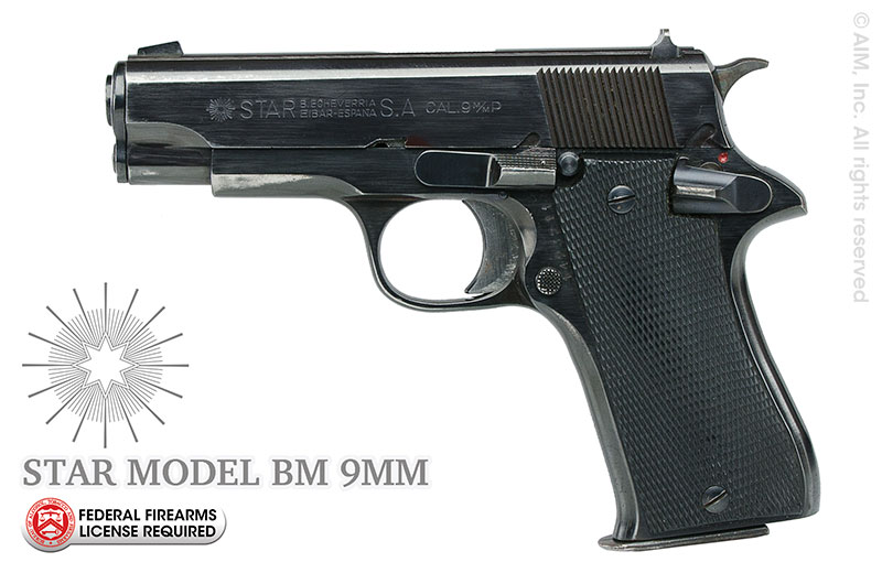 Star Model BM 9mm Handgun - Plus Grade