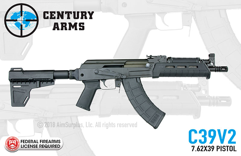 Century Arms C39V2 (Milled) 7.62X39 AK Pistol