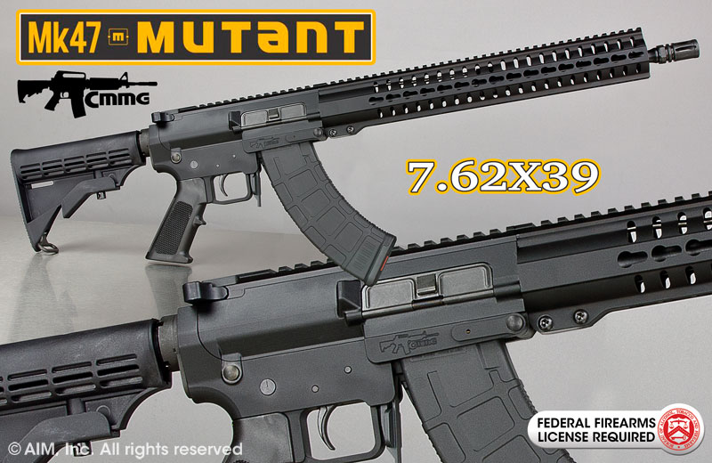 CMMG MK47 Mutant T 7.62x39 AR Rifle