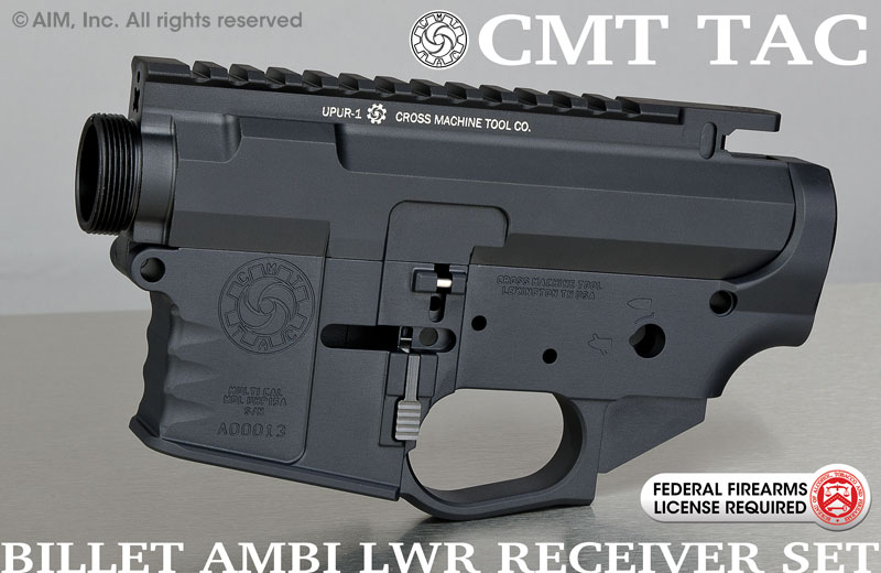 CMT UHP15A AMBI Billet Multi. Cal. AR Receiver Set