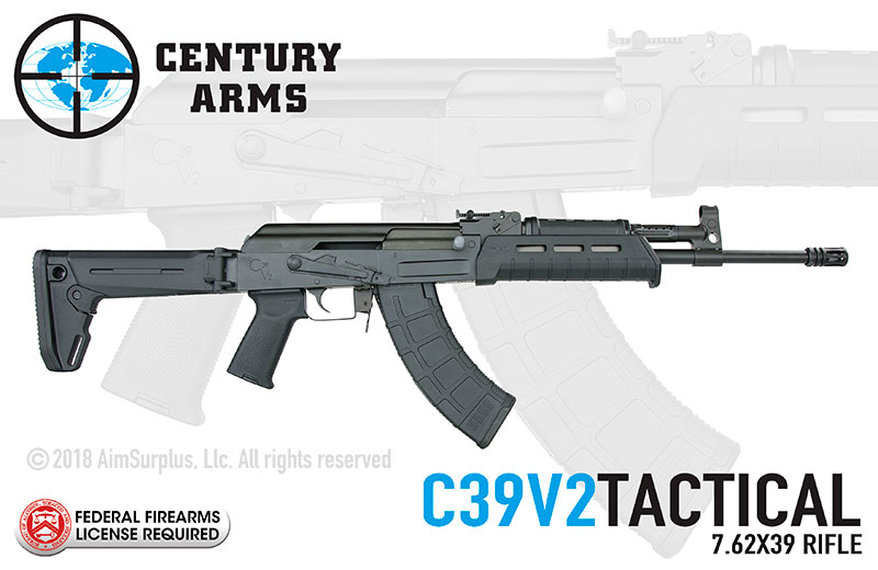 Century Arms C39V2 (Milled) TACTICAL 7.62X39 AK Rifle