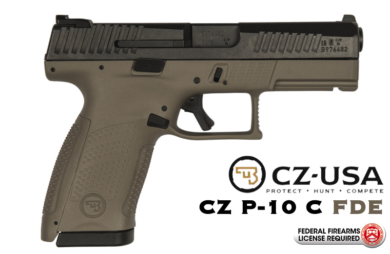CZ P-10 C FDE 9mm Handgun with Night Sights