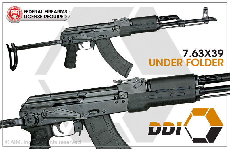 DDI Arms AK-47 Under Folder 7.62x39 Rifle
