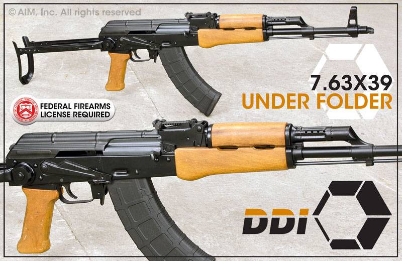 DDI Arms AK-47 Under Folder Woody 7.62x39 Rifle