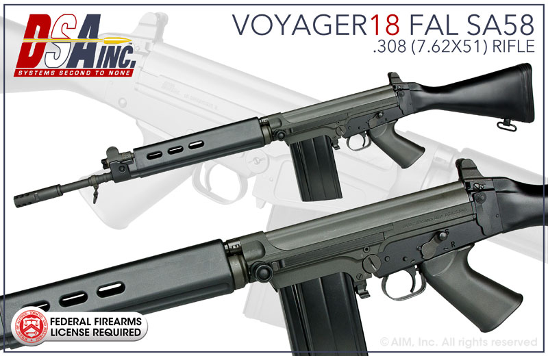 DSA, Inc. Voyager 18 FAL SA58 .308/7.62x51 Rifle