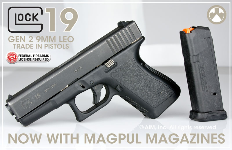 Glock 19 9mm Gen 2 Law Enforcement Trade In w/ Magpul Magazine