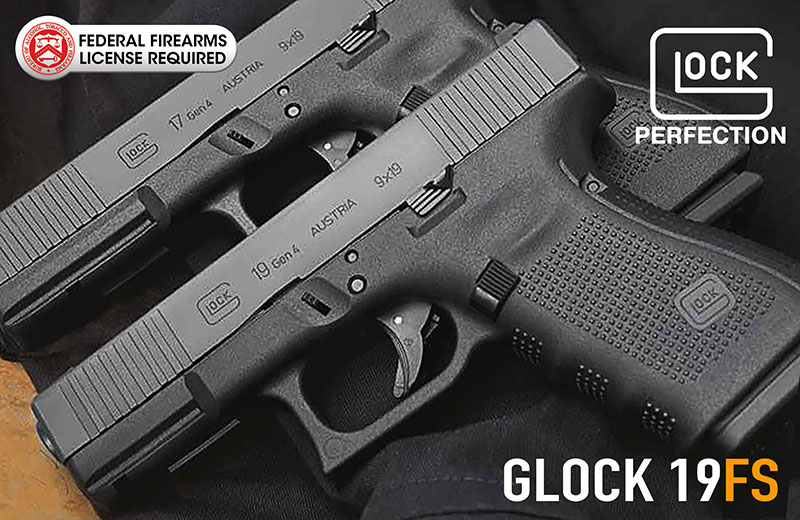 New GLOCK 19 GEN4 FS 9mm Handgun