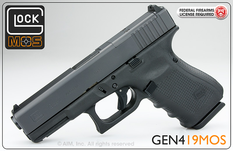 New GLOCK 19 9mm Handgun Gen 4 MOS