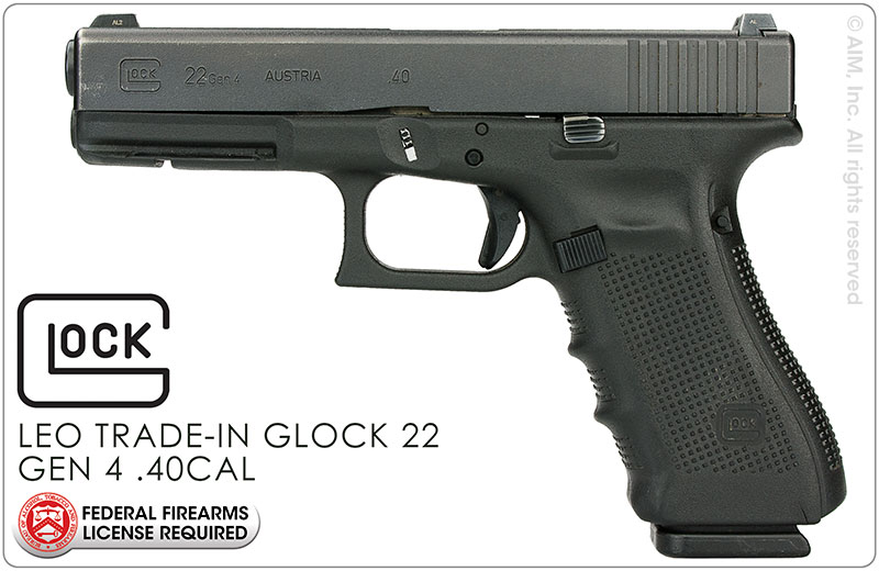 LEO Trade-In GLOCK 22 GEN 4 .40S&W Handgun