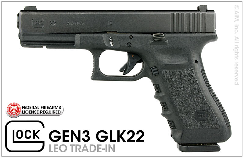 LEO Trade-In GLOCK 22 GEN 3 .40S&W Handgun - PD Marked