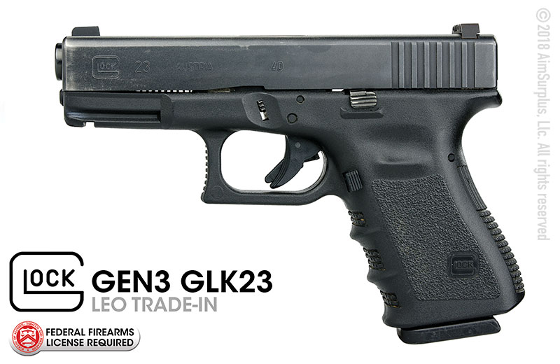 LEO Trade-In GLOCK 23 GEN 3 .40S&W Handgun