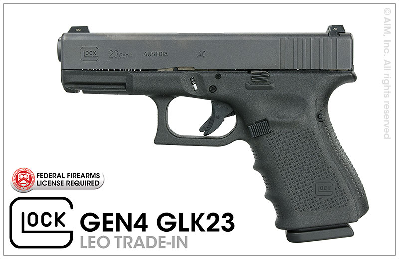 LEO Trade-In GLOCK 23 GEN 4 .40S&W Handgun