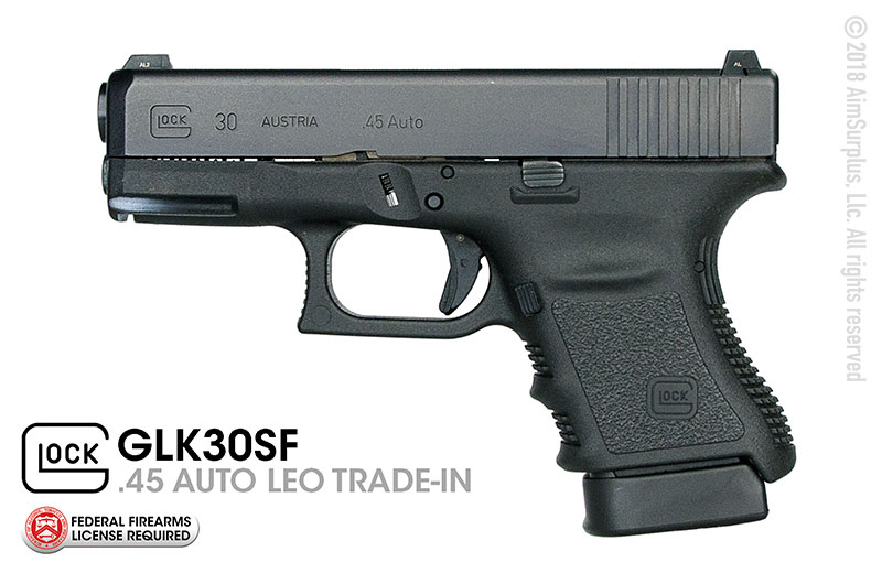 LEO Trade-In GEN 3 GLOCK 30SF (Short Frame) .45 AUTO Handgun