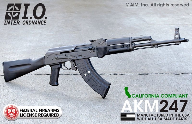 INTER ORDNANCE AKM247 7.62X39 Rifle CA Compliant