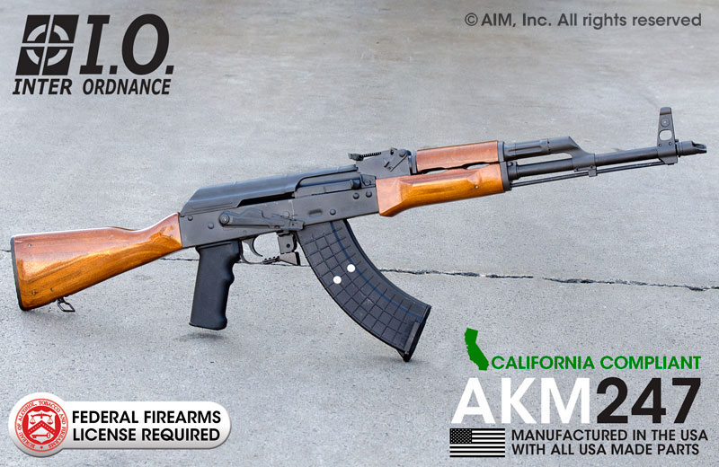 INTER ORDNANCE AKM247C 7.62X39 Rifle CA Compliant