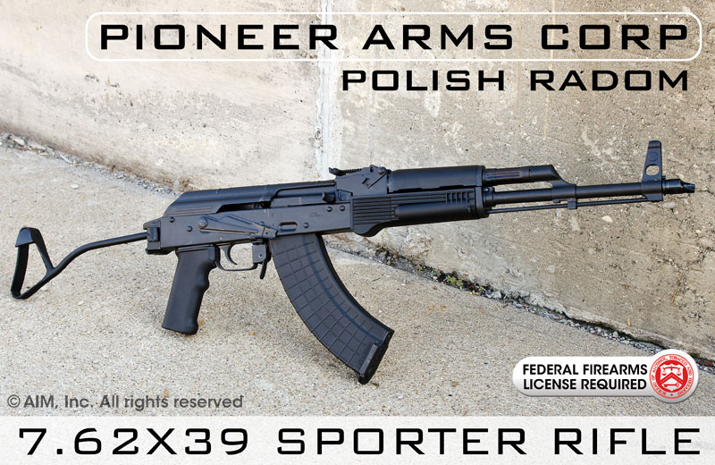 Pioneer Arms Corp Sporter AK 7.62x39 Side Folding Rifle