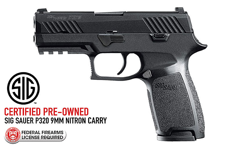 CERTIFIED PRE-OWNED SIG SAUER P320 Nitron Carry 9mm Pistol