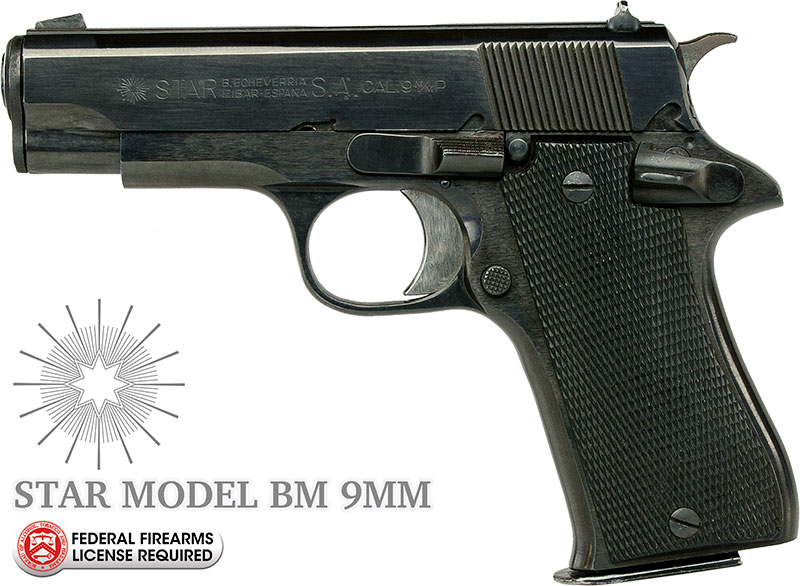 Star Model BM 9mm Handgun - Select Grade