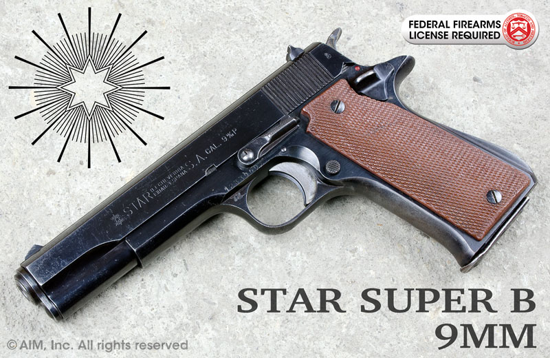 Star Super B 9mm Pistol w/ extra magazine