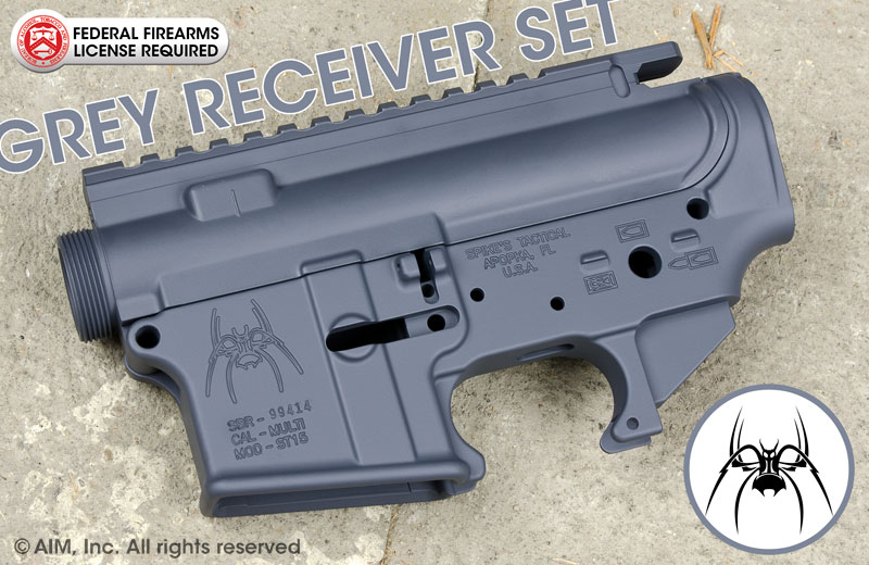 Spike's Tactical GREY Cerakoted Upper and Lower Receiver Set