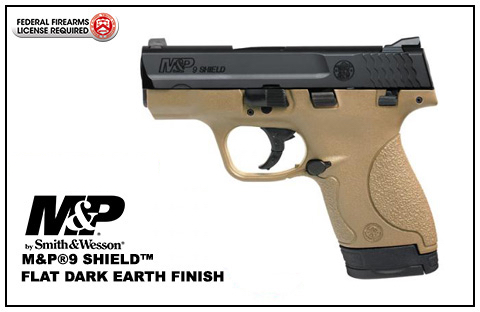 Smith & Wesson M&P®9 SHIELD™ 9mm Handgun FDE w/ Thumb Safety
