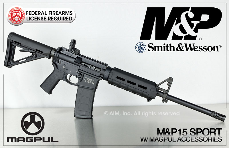 S&W M&P15 Sport .223/5.56 Magpul Rifle