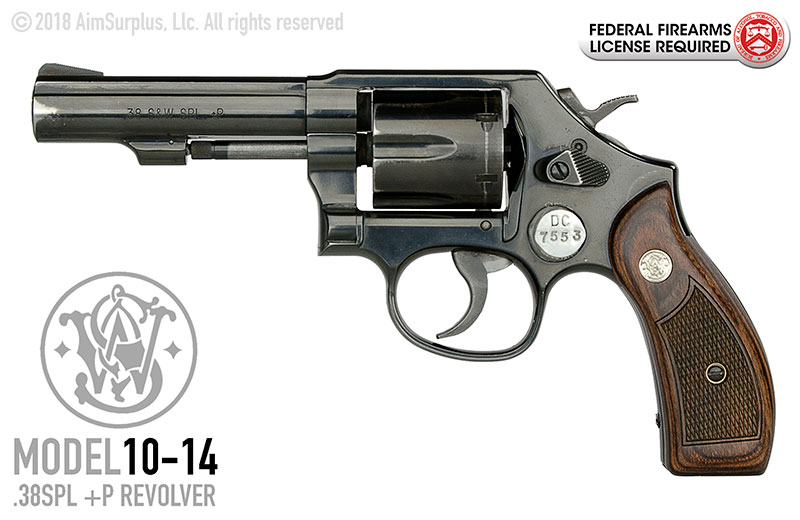 Smith & Wesson Model 10-14 .38spl +P Heavy Bbl Revolver