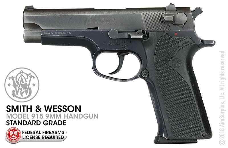 Smith & Wesson Model 915 9mm Pistol Standard Grade