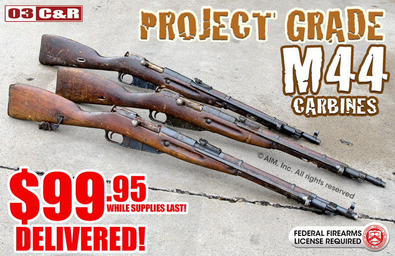 Project Grade Russian Mosin Nagant M44 7.62x54R Carbines