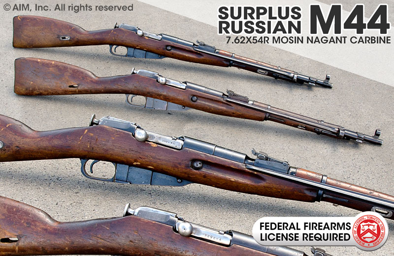 Surplus Russian M44 7.62X54R Mosin Nagant Carbine