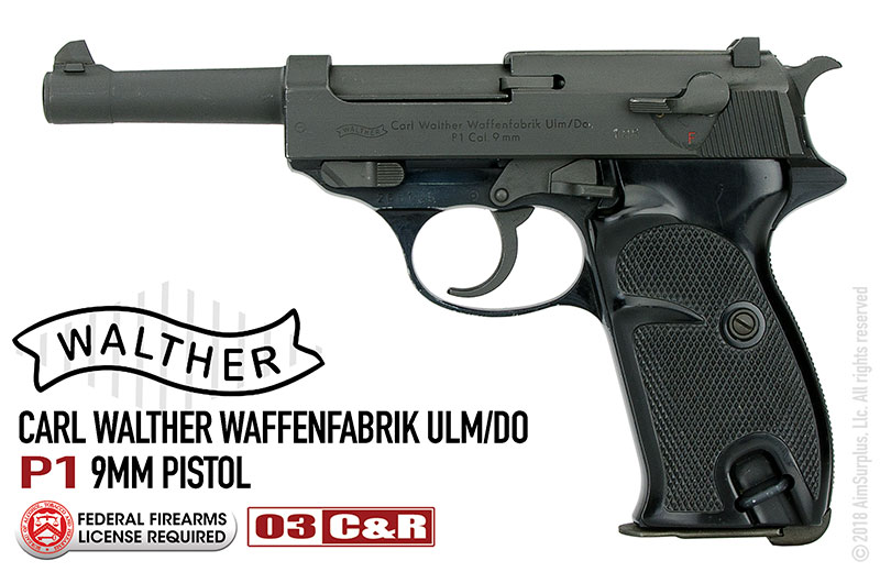 German Walther P1 9mm Pistol