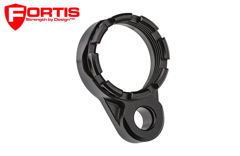 Fortis LE™ Lightweight Enhanced AR15 End Plate K1 System (Tapered) Castle Nut - Black