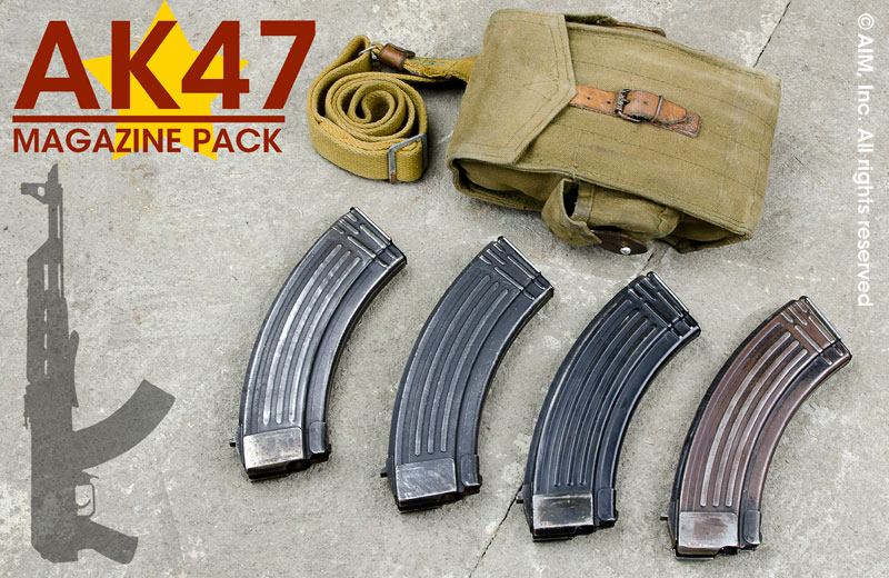 Surplus European AK47 30rd 7.62X39 Magazines 4 Pack