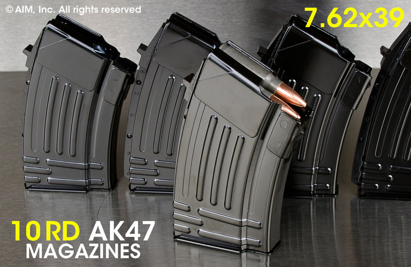 New Steel 10rd AK47 7.62x39 Magazines
